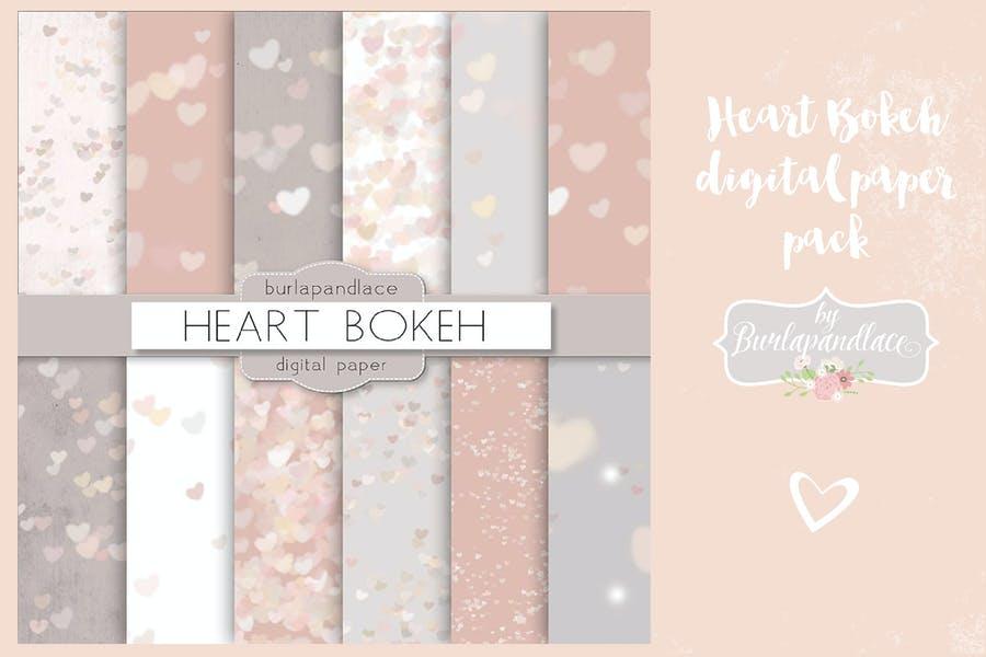 Bokeh Hearts Background Design