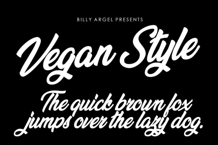 Bold Calligraphy Style Typeface