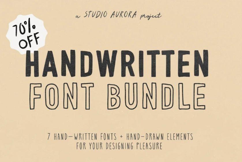 Bold Handwritten Typeface