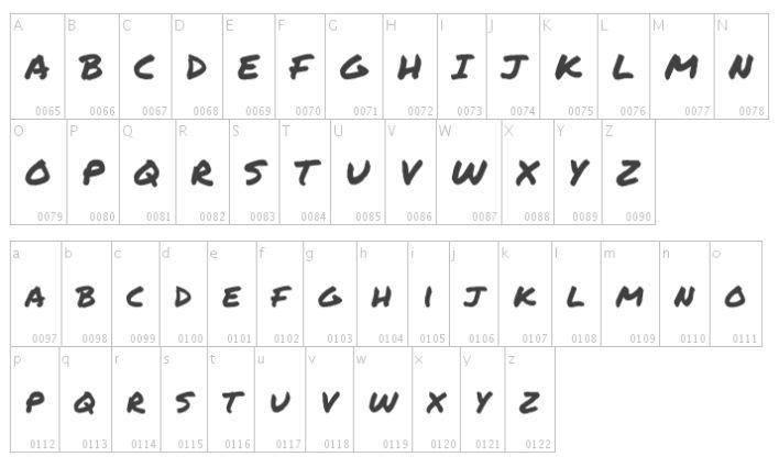 Bold Marker Style Fonts