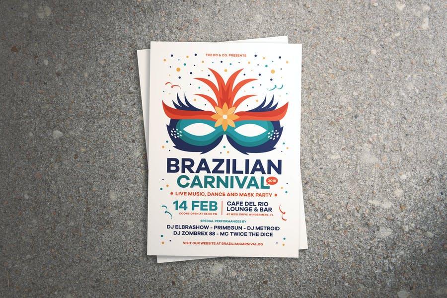 Brazilian Carnival Flyer Design
