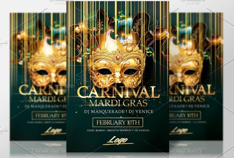 Brazilian Party Event Flyer Template