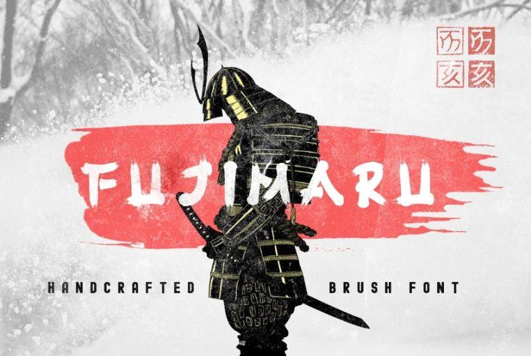Brush Style Samurai Fonts