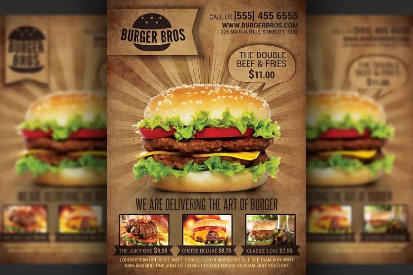 Burger Store Promotional Flyer Template