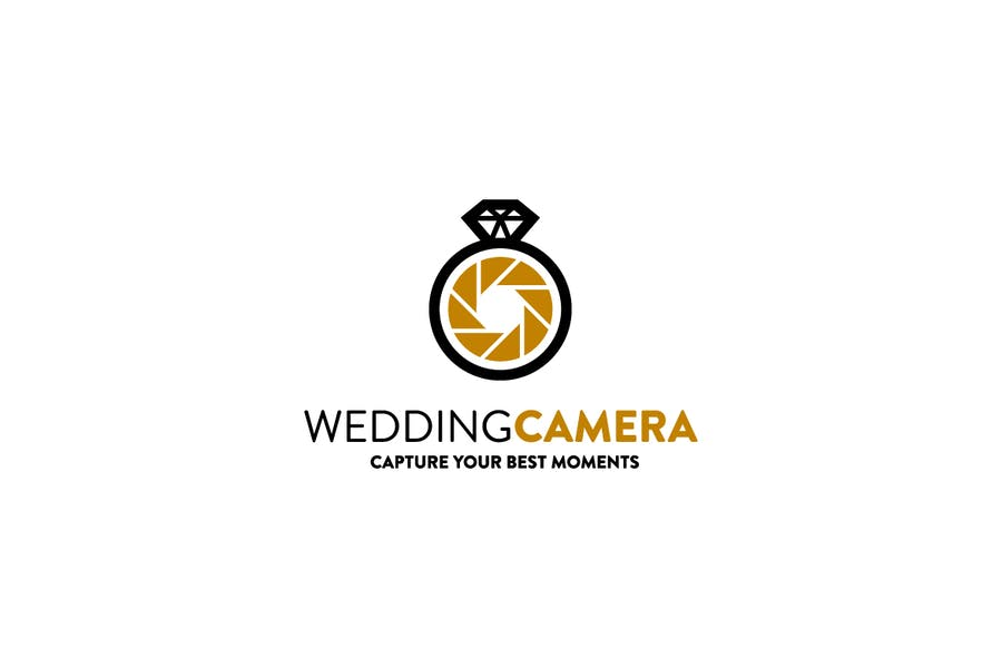 Camera Style Ring Logo Template