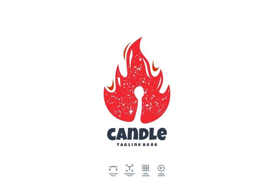 Candle Style Logo Identity