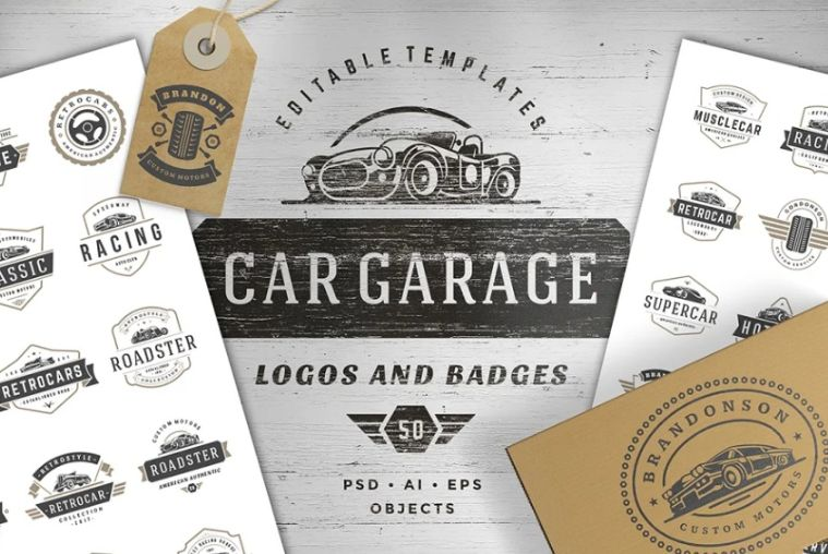 Car Garage Branding Identity Designs