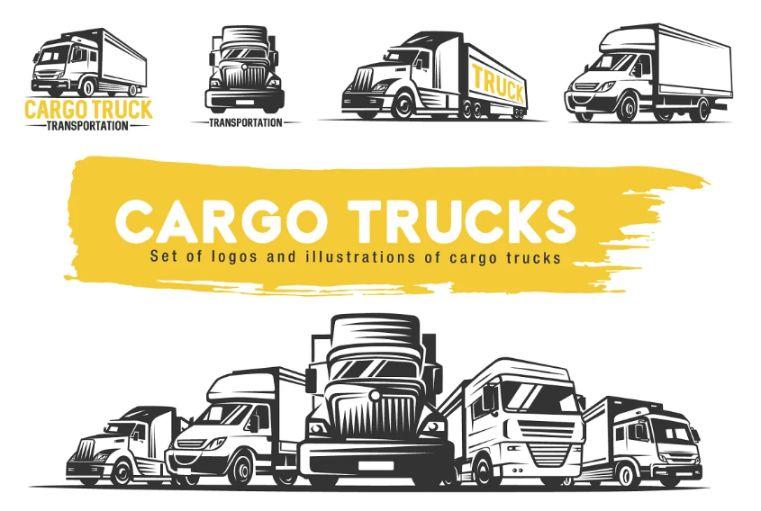Cargo Truck Logo Set