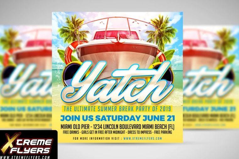 Caribbean Party Flyer Templates