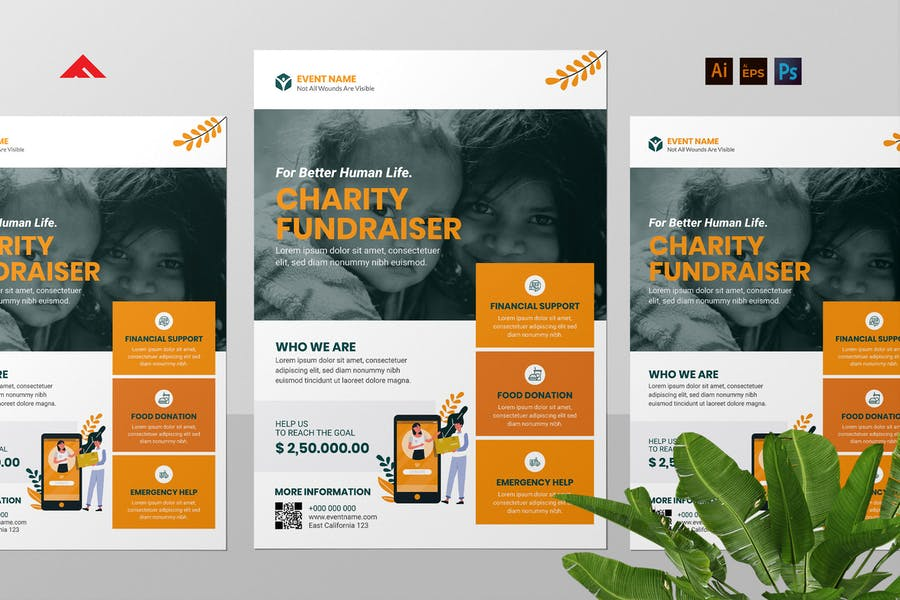 Charity Fundraiser Flyer Template