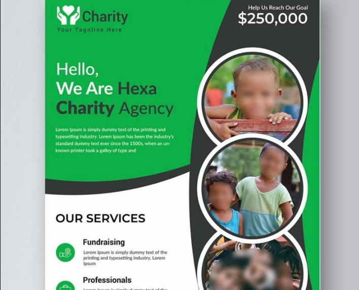 Charity Organization Flyer Template