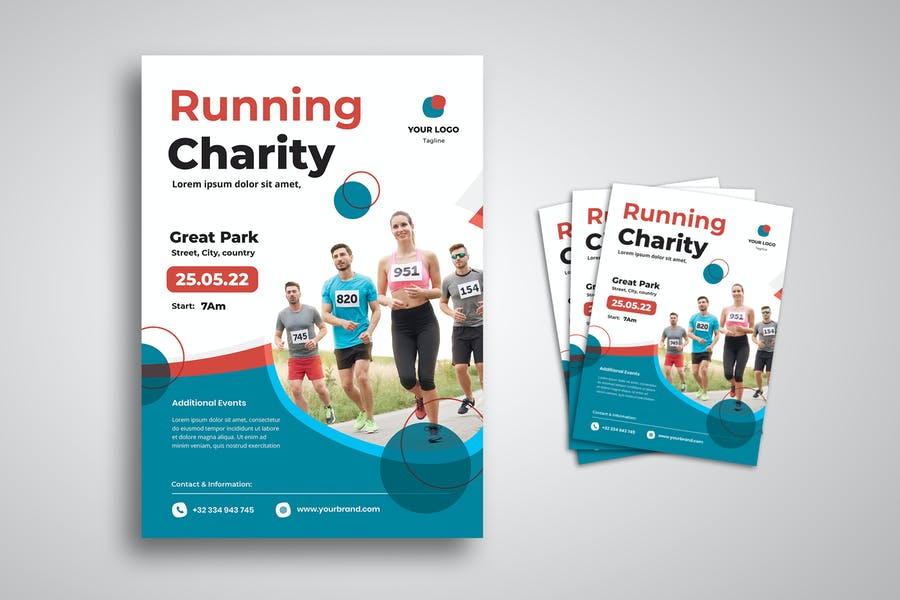 Charity Race Flyer Template