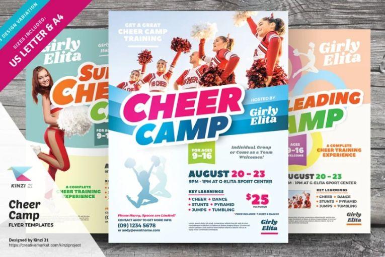 Cheerleading Camp Flyer Template