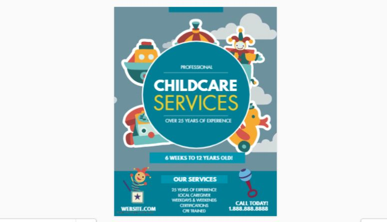 Childcare Services flyer Template