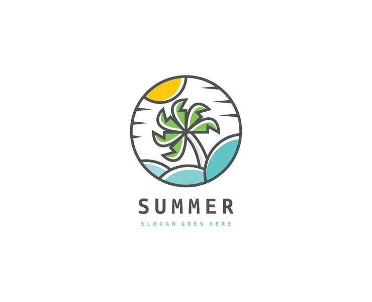 15+ Best Palm Tree Logo Designs Template Download