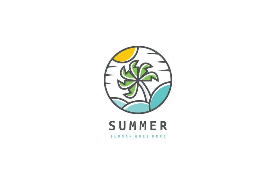 Circular Beach Logo Identity