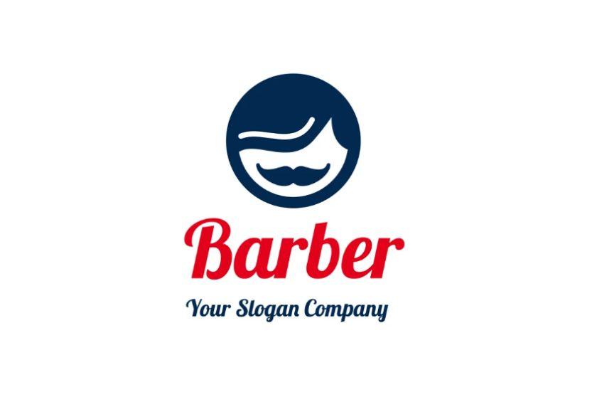 Circular Mustache Logo Design