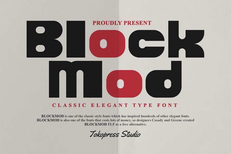Classic Style Block Typeface