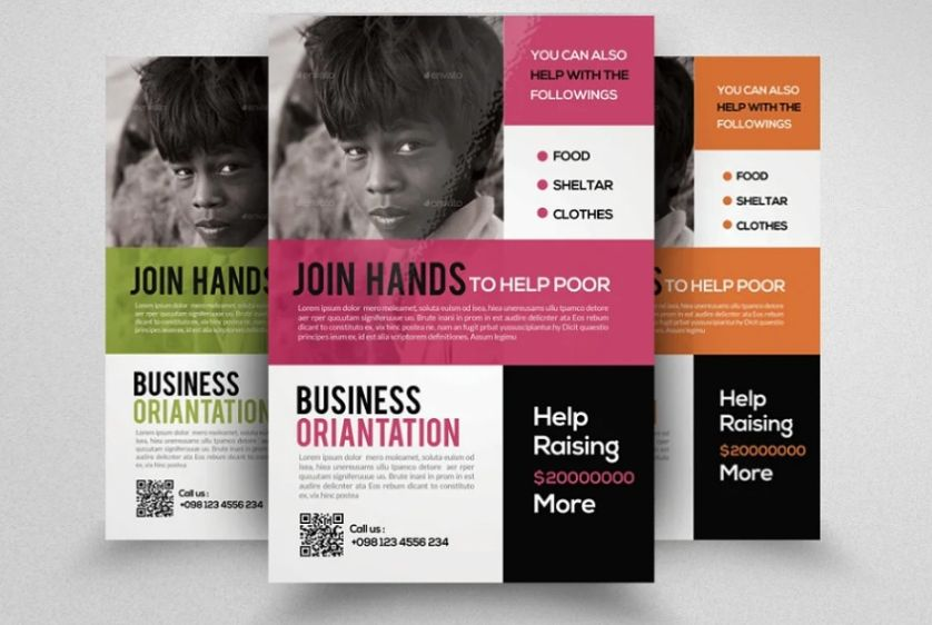 Clean Charity Event Flyer Template