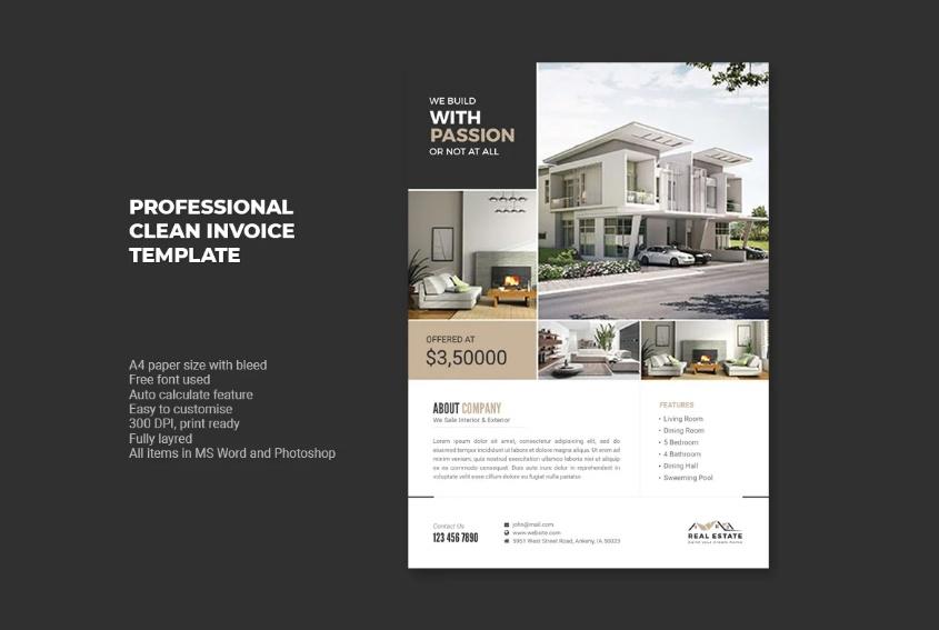 Clean House Rental Flyer