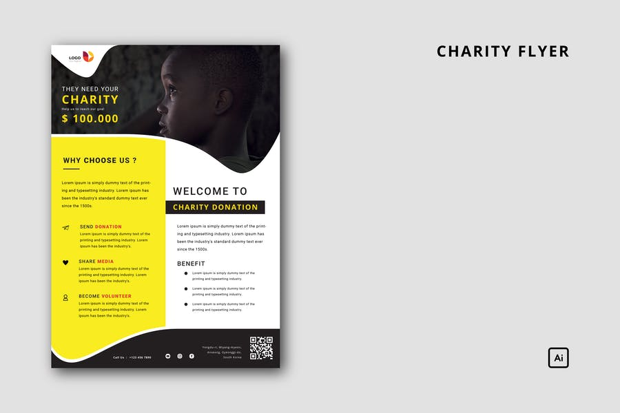 Clean and Professional Charity Flyer