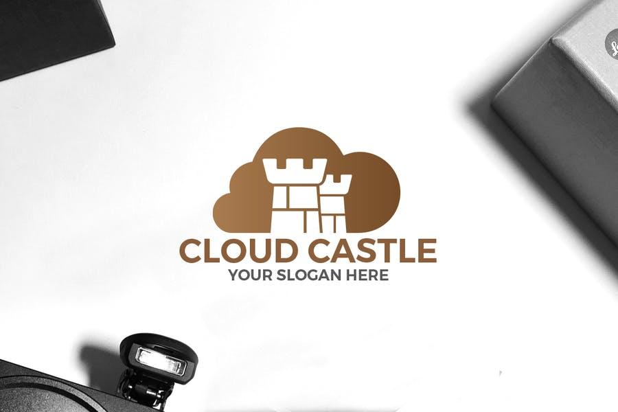 Cloud Style Castle Logo