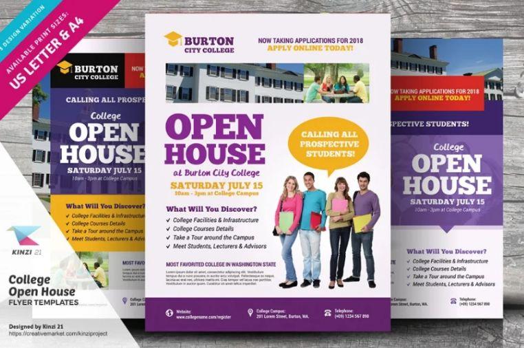 College Open House Flyer Design
