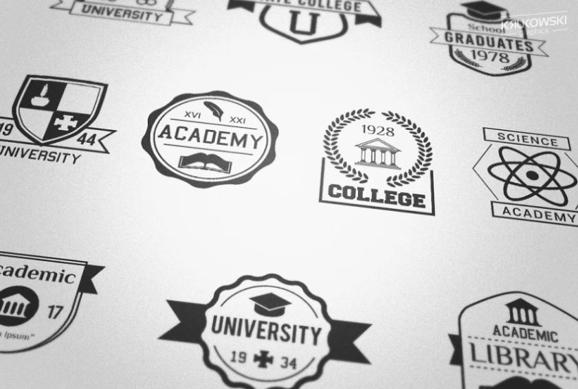College and School logo Badges