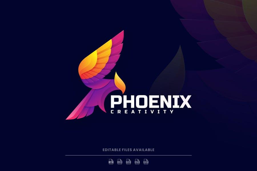 Colorful Bird Branding Logo Template