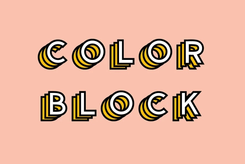 Colorful Block Display Typeface