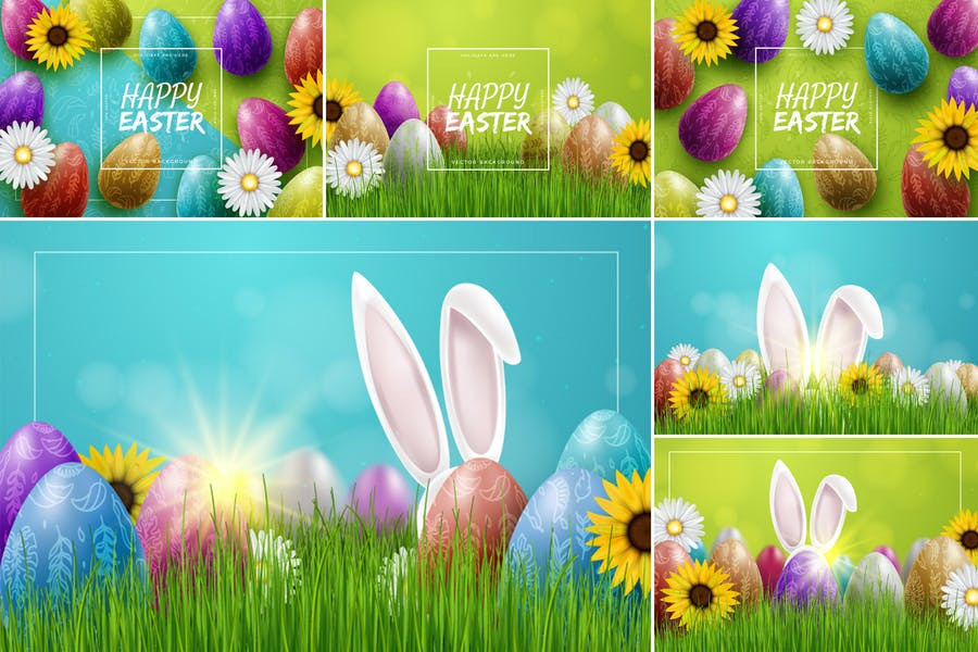 Colorful Easter Background Designs