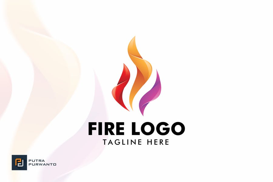 Colorful Fire Logo Identity