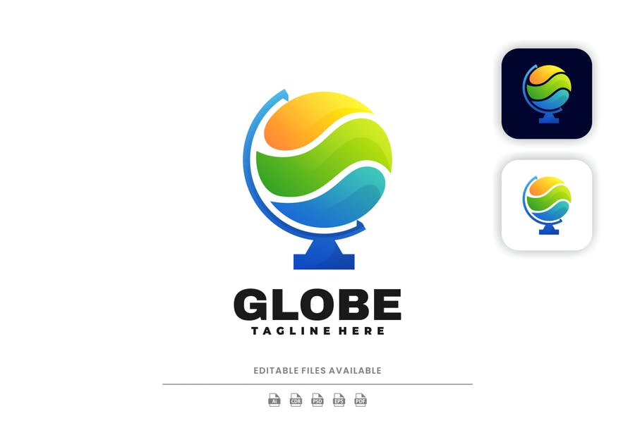 Colorful Globe Logo Identity Design