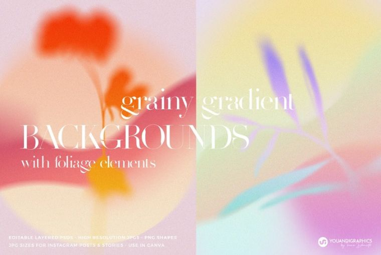Colorful Grainy Backgrounds