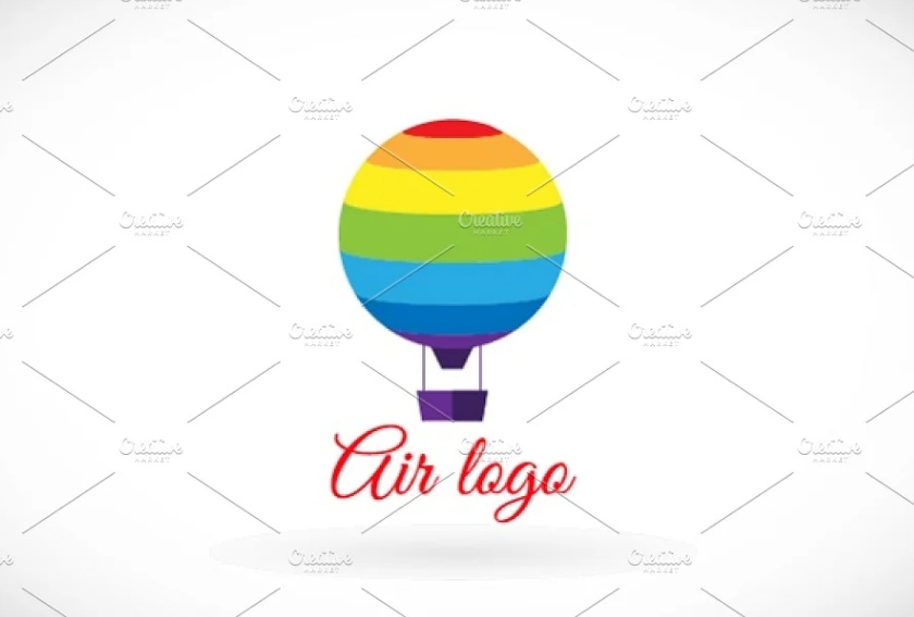 Colorful Hot Air Balloon Log