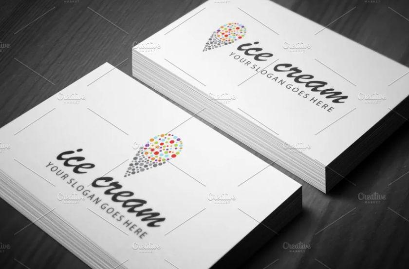 Colorful Ice Cream Branding Design