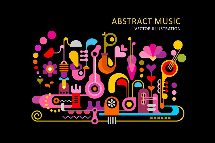Colorful Music Vector Backgrounds