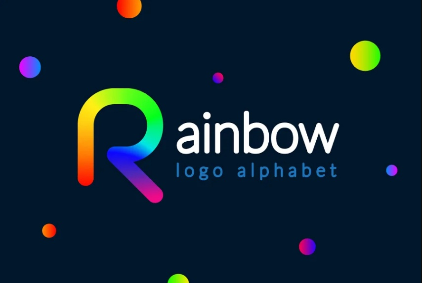 Colorful R Character Logo
