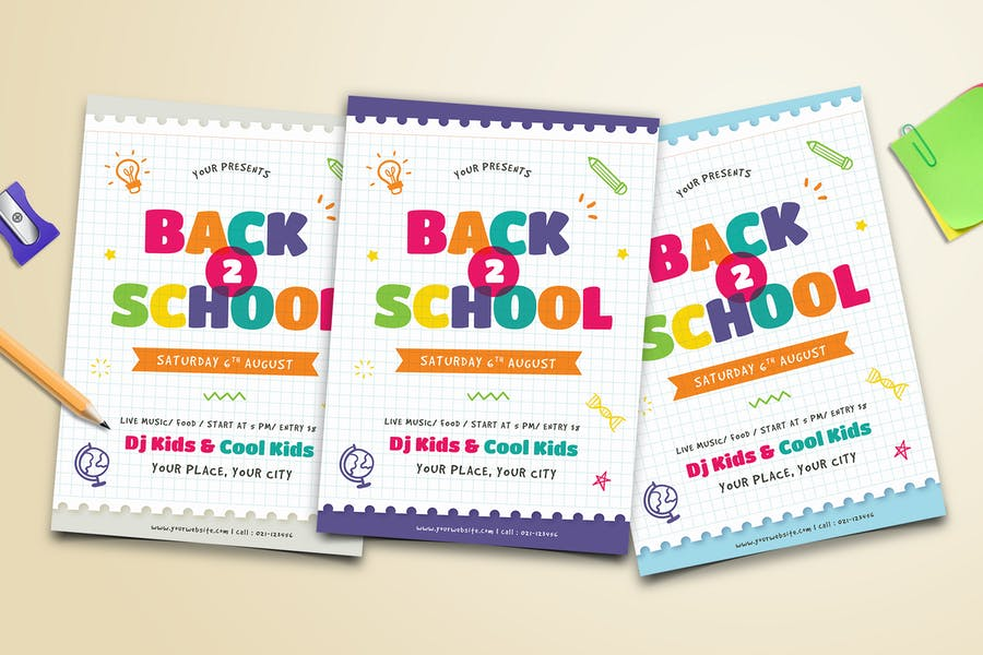 Colorful School Poster Template