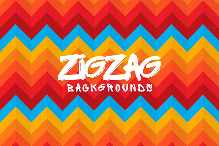 Colorful Zig Zag Wallpapers