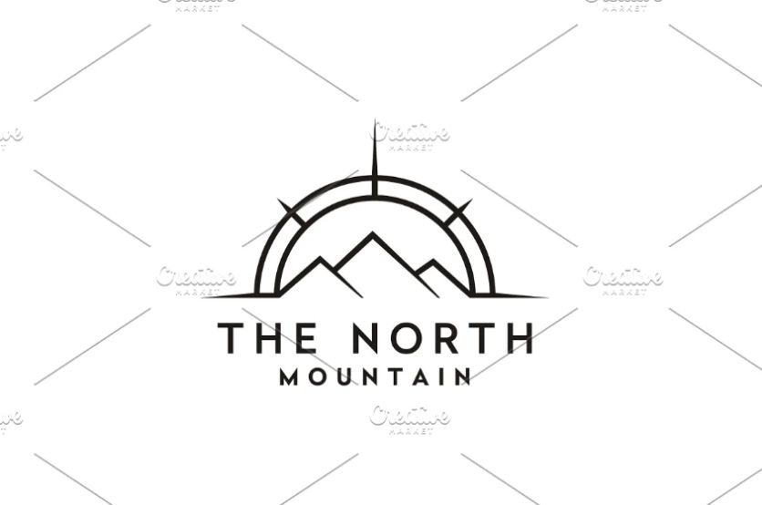 Compass Style Logo Identity