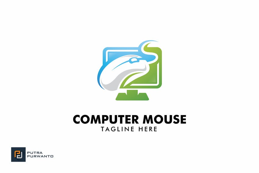 Computer and Mouse Logo Designs