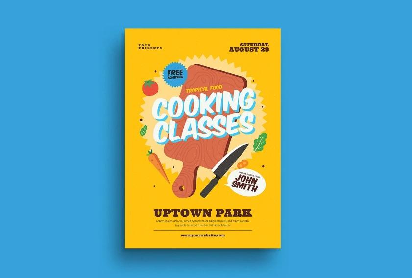 Cook Flyer Template PSD