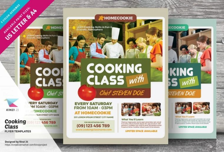 Cooking Class Advertisement Flyer