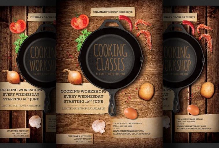 Cooking Classes Ad Flyer Template