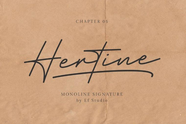 Cool Monoline Signature Fonts