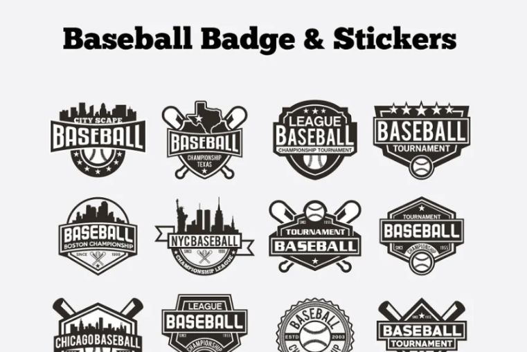 Creative Baseball Badges and Stickers