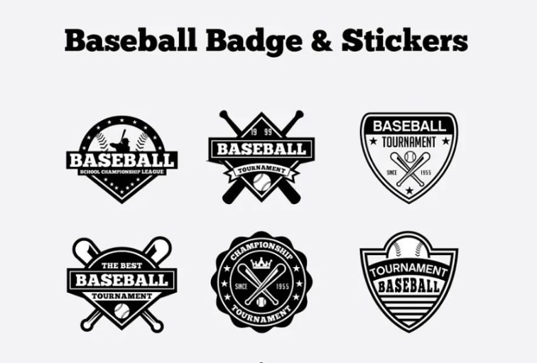 Creative Baseball Logo Designs Set