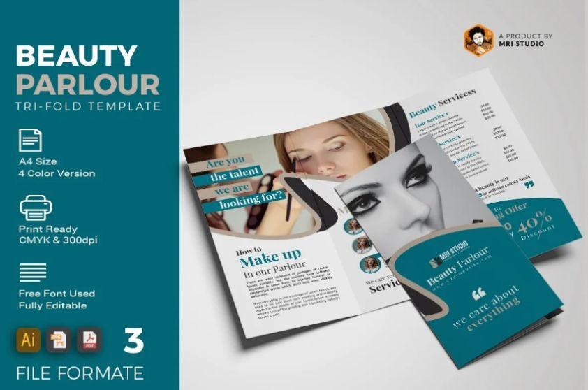 Creative Beauty Parlour Brochures