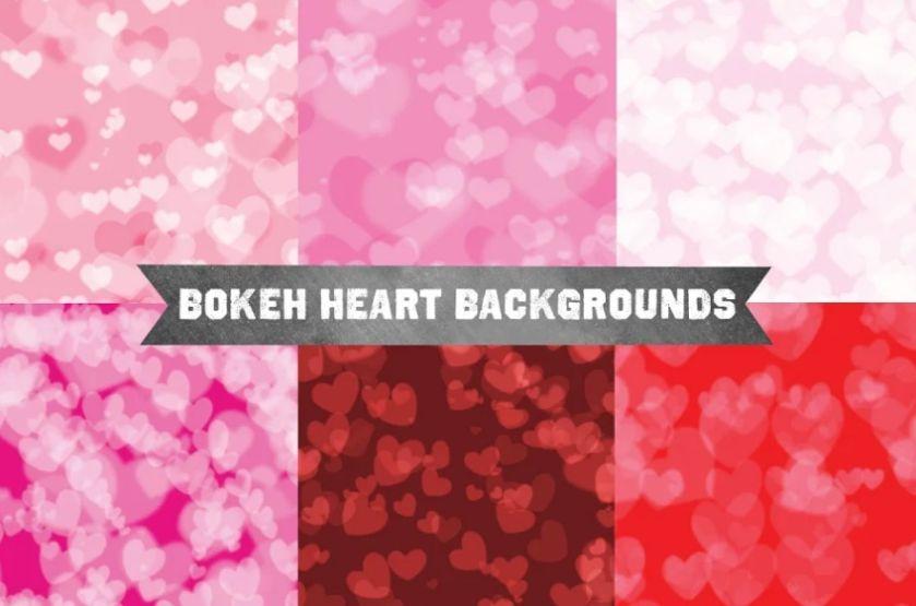Creative Bokeh Hearts Backgrund Design